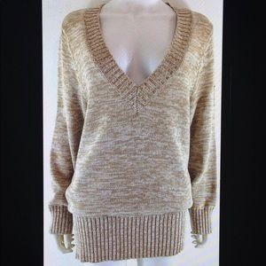 Style & Co Plus Metallic Cotton Knit Sweater Top